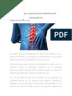 Lumbalgia y Ejercicios de Estabilización Lumbopélvica