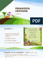 UNIDAD 1 PEDAGOGIA CLASE 1 KEPC 2019