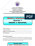 WEEKLY ASSESSMENT - Grade 4 Q1 - W3