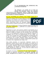 Informe Sobre La Delegacion Del Ejercicio Del Ejercicio de La Patria Potestad