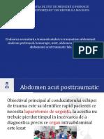 Evaluarea secundară a traumatizatului cu traumatism abdominal