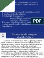 Traumatismele iatrogene ale căilor biliare posibile