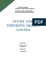 Study And Thinking Skills- part 1