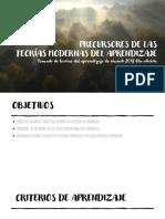 PRECURSORES DE LAS TEORIAS MODERNAS