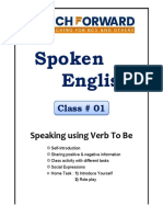 March Forward Spoken English Lecture#01