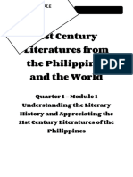 21st Century Literature11_Q1_Mod1_Understanding Literary History_Version 3
