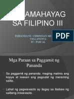 Pamamahayag sa Filipino III - report