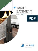 JX Tarif Batiment 2020