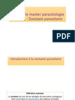 Introduction à la zootaxie parasitaire