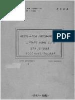 CCUB - SIMPLEX 1983 - Rezolvarea sistemelor mari