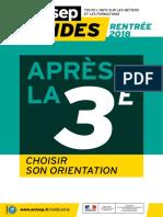 Guide Onisep 2018 - Après La 3e