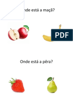 Jogo identificação das frutas