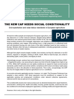 Open Letter the New CAP Needs Social Conditionality With Signatories