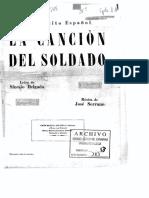 La Canción Del Soldado - José Serrano