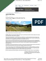 Land Swap Triggers CO Dustup WSJ