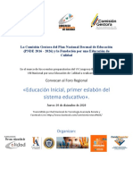 DOCUMENTO Y AGENDA 4 FORO EDUCAINICIAL 4