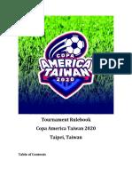 Rulebook-Copa-America-Taiwan-2020-ENG-Draft 2