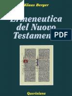 (Biblioteca biblica 26) Klaus Berger - Ermeneutica del Nuovo Testamento-Queriniana (2001)