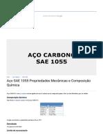 Aço SAE 1055 Propriedades Mecânicas e Composição Química