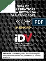 COVID 19 - GUIA DE BOAS PRÁTICAS PARA RETOMADA DAS ATIVIDADES