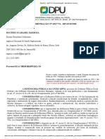 SEI_DPU - 4227774 - Recomendação - Assistência Jurídica