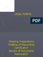 Introduction to Legal Forms