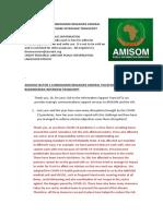 AMISOM Sector 5 Commander Brigadier General Barandereka Telesphore Interview Transcript