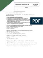 Evaluación capacitación en riesgo químico