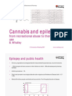 Cannabis and epilepsy - from recreational abuse to therapeutic use. Whalley, 2007