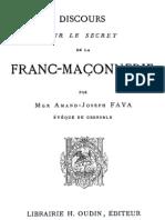 FAVA - Discours sur le secret de la franc-maçonnerie
