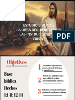 LECCION 1 2020 La OBRA REQUIERE SEGUIR LAS INSTRUCCIONES DE CRISTO