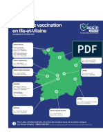 Carte des centres de vaccination en Ille-et-Vilaine