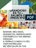 GRANDIOSO ÉS TU – SALMOS E HINOS Nº65