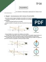 TP O4 Focométrie