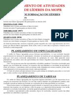 PLANEJAMENTO CLUBE DE LÍDERES
