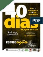 Devocionais - Campanha 40 Dias de Jejum e Oração 2014