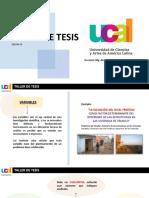 SESION 09 - TALLER DE TESIS
