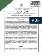 RESOLUCION 376 DEL 27 DE OCTUBRE DE 2017