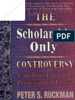 The Scholarship Only Controversy - Dr Peter S Ruckman