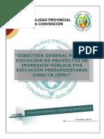 primera Directiva PIP MPLC