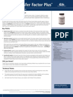 Transfer Factor Products Specification Sheets