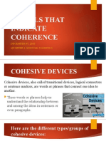 SIGNALS THAT INDICATE COHERENCE