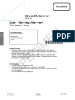 Unit h415 02 Law Making and the Law of Tort Sample Assessment Material