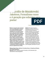 O suicídio de Maiakovski