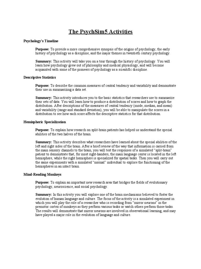 Uncategorized Psychsim 5 Worksheet Answers psychsim5 worksheets reinforcement stress biology