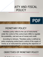 CONCEPT MONETARY AND FISCAL POLICY PPT