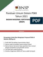 Panduan Umum PSKK BNSP 2021