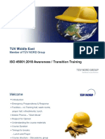 ISO 45001 Awareness & Transition Training