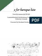 D-Schwerin 641 Selected Pieces for Baroque Lute Manuscript MS 641 (Schwerin, Germany)