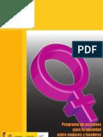 Programa de acciones para la igualdad entre Mujeres y Hombres en el ámbito penitenciario
